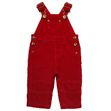 Buy John Lewis Baby Corduroy Dungarees, Red Online at johnlewis.com