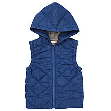 Buy John Lewis Baby Chambray Gilet, Denim Online at johnlewis.com