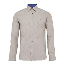 Buy Ted Baker Newline Stretch Linen Shirt, Natural Online at johnlewis.com