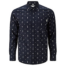 Buy Carhartt WIP Origin Splatter Slim Fit Shirt, Navy/Snow Online at johnlewis.com