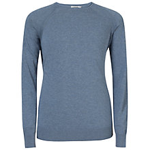 Buy J. Lindeberg Milo Summer Cotton Sweatshirt, Indigo Melange Online at johnlewis.com