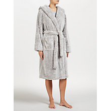 Buy John Lewis High Pile Fleece Robe, Grey Online at johnlewis.com