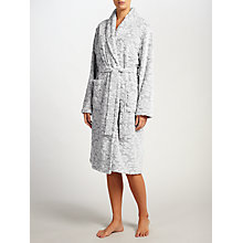 Buy John Lewis Damask Embossed Robe, Grey Online at johnlewis.com