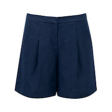 Buy Pure Collection Aubree Laundered Linen Shorts, French Navy Online at johnlewis.com