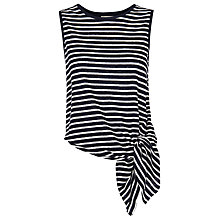Buy Whistles Stripe Linen Tie Vest, Blue/White Online at johnlewis.com