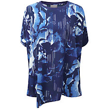 Buy Pure Collection Arianna Silk Poncho, Blue Online at johnlewis.com