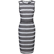 Buy Pure Collection Hailey Anglais Shift Dress, Black/White Online at johnlewis.com