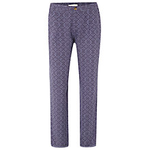 Buy White Stuff Sylvia Print Trousers, Fossil Grey Online at johnlewis.com