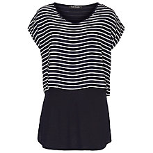 Buy Betty Barclay Striped Two Layer Top, Dark Blue/White Online at johnlewis.com