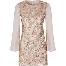 Buy True Decadence Sheer Sleeve Tunic Dress, Gold Sequin Online at johnlewis.com