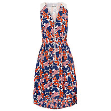 Buy Whistles Damson Zip Front Dress, Multicolour Online at johnlewis.com