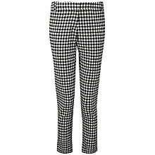 Buy Pure Collection Anna Capri Trousers, Black/White Online at johnlewis.com