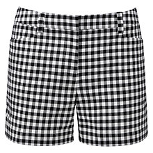 Buy Pure Collection Madelyn Cotton Shorts, Black/White Online at johnlewis.com