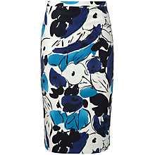 Buy Pure Collection Hailee Pencil Skirt, Blue Floral Online at johnlewis.com