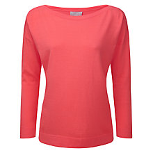 Buy Pure Collection Cadence Boat Neck Sweater, Coral Rose Online at johnlewis.com