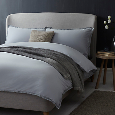 John Lewis Croft Collection Fern Bedding, Pale Slate