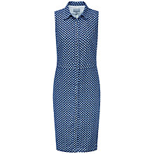 Buy Pure Collection Skylar Linen Shirt Dress, Navy Geo Online at johnlewis.com