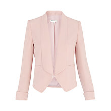 Buy Whistles Draped Cuff Detail Jacket, Pale Pink Online at johnlewis.com