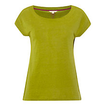 Buy White Stuff Linen Palma Island T-Shirt, Pickle Green Online at johnlewis.com