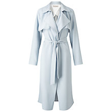 Buy Miss Selfridge Fluid Maxi Trench, Pale Blue Online at johnlewis.com