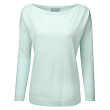 Buy Pure Collection Zoey Boat Neck Jumper, Palest Opal Online at johnlewis.com
