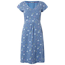 Buy White Stuff Floral Spot Dress, Wash Blue Online at johnlewis.com