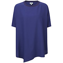 Buy Pure Collection Savannah Silk Poncho Top, Sapphire Blue Online at johnlewis.com