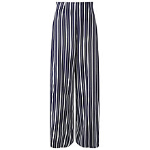 Buy Miss Selfridge Stripe Wide Leg Trousers, Navy Online at johnlewis.com