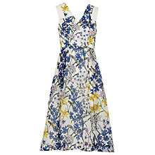 Buy Whistles Bluebell Organza Dress, White/Multi Online at johnlewis.com