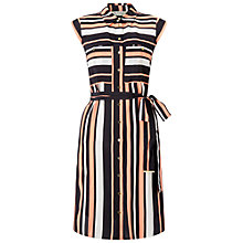 Buy Miss Selfridge Stripe Shirt Dress, Pink Online at johnlewis.com
