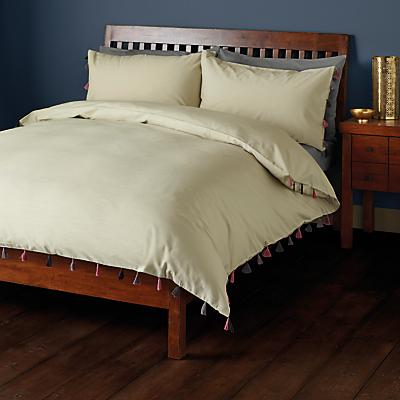 John Lewis Etan Tassels Duvet Cover and Pillowcase Set