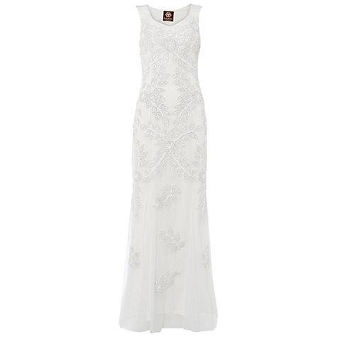 Buy Raishma Floral Embellished Gown, White Online at johnlewis.com