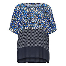 Buy Betty Barclay Oversized Printed Top, White/Blue Online at johnlewis.com