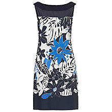 Buy Betty Barclay Floral Printed Dress, White/Blue Online at johnlewis.com