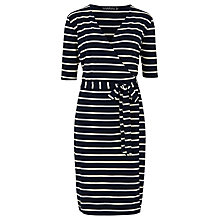 Buy Sugarhill Boutique Krissy Knee Dress, Navy/Cream Online at johnlewis.com