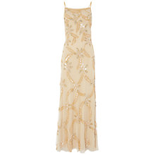 Buy Raishma Beaded Gown, Gold Online at johnlewis.com
