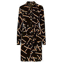 Buy Sugarhill Boutique Elise Shirt Dress, Black/Cream Online at johnlewis.com