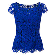 Buy Jacques Vert Sweetheart Lace Top, Blue Online at johnlewis.com