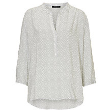 Buy Betty Barclay Printed V-Neck Blouse, White/Grey Online at johnlewis.com
