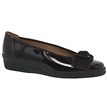 Buy Gabor Lesley Wide Fit Leather Wedge Pumps Online at johnlewis.com