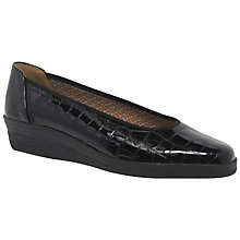 Buy Gabor Piquet Wide Slip On Pumps Online at johnlewis.com