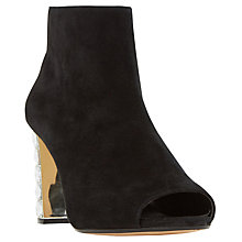 Buy Dune Daniela Peep Toe Shoe Boots, Black Online at johnlewis.com