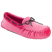 Buy John Lewis Velvet Moccasin Slippers Online at johnlewis.com
