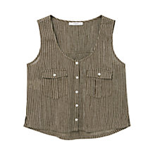 Buy Mango Striped Sleeveless Top Online at johnlewis.com