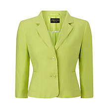 Buy Precis Petite Linen Jacket, Lime Online at johnlewis.com