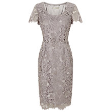 Buy Jacques Vert Lace Layer Dress, Light Grey Online at johnlewis.com