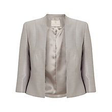 Buy Jacques Vert Edge To Edge Jacket, Light Grey Online at johnlewis.com
