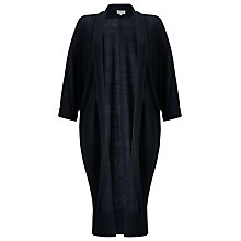 Buy East Longline Linen Cardigan, Ink Online at johnlewis.com