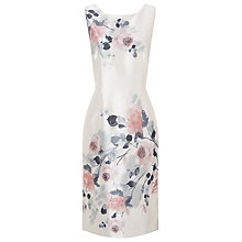 Buy Jacques Vert Blushing Rose Placement Dress, Cream Online at johnlewis.com