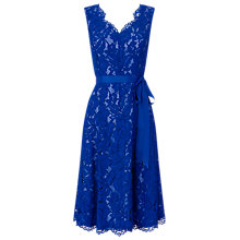 Buy Jacques Vert Corded Lace Prom Dress, Mid Blue Online at johnlewis.com